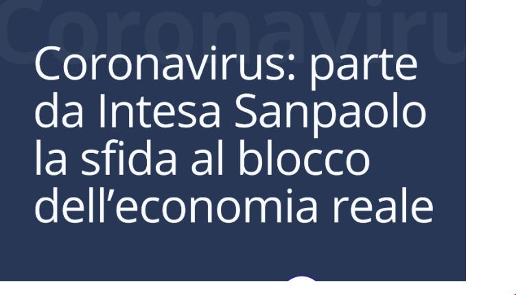 coronavirus Intesa Sanpaolo economia reale Konsumer