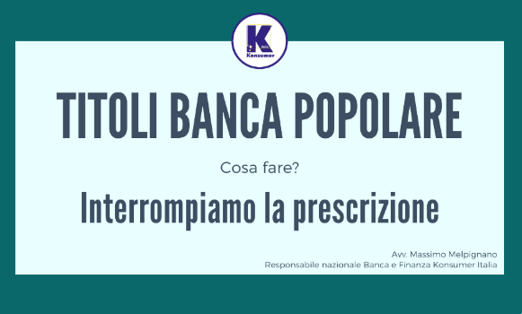 titoli banca popolare konsumer