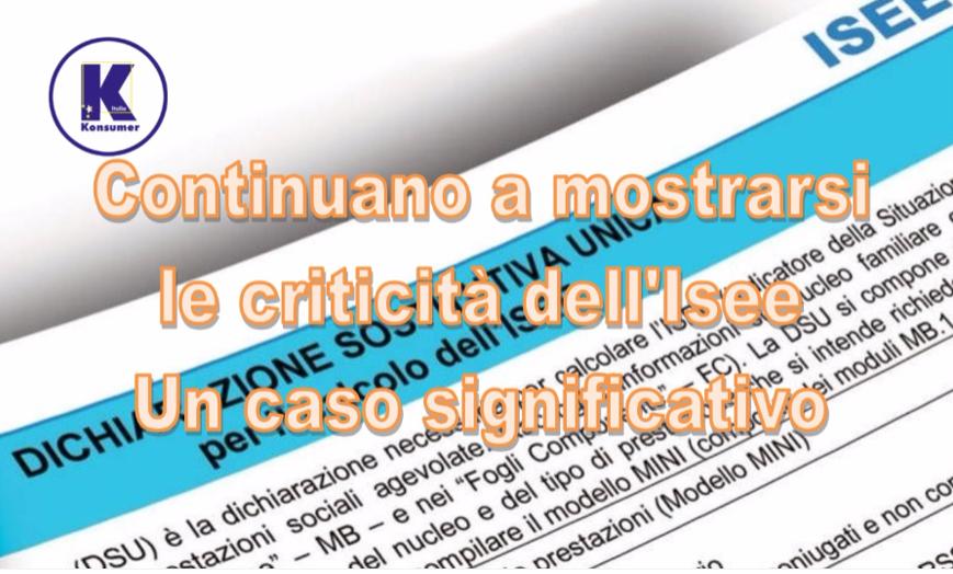 Isee criticità Konsumer Italia