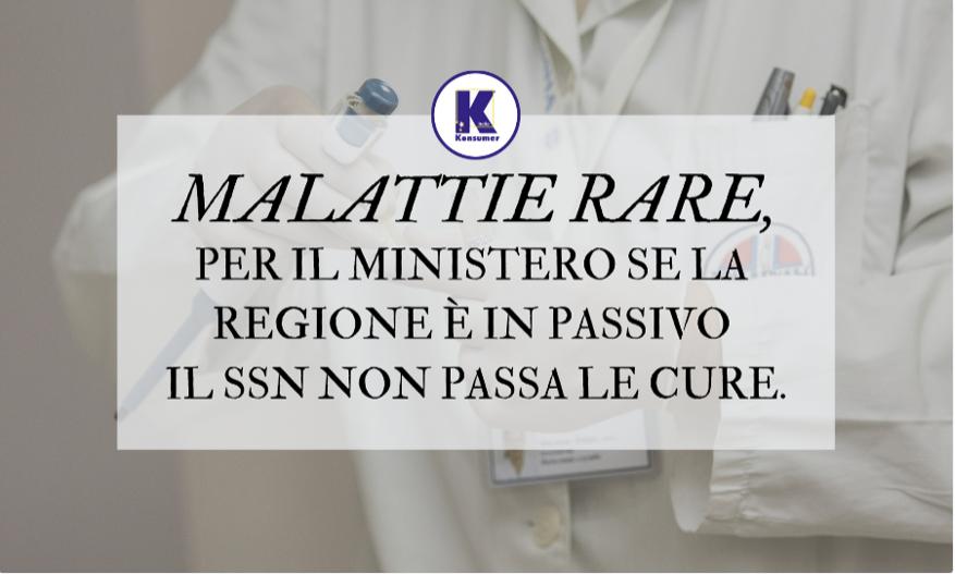 ministero regione malattie rare SSN Konsumer