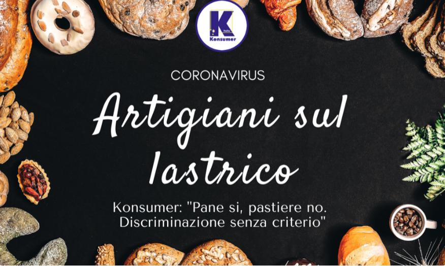 Coronavirus Konsumer artigiani misure anticontagio