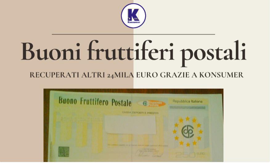 buoni fruttiferi postali Konsumer recupero 24 mila euro