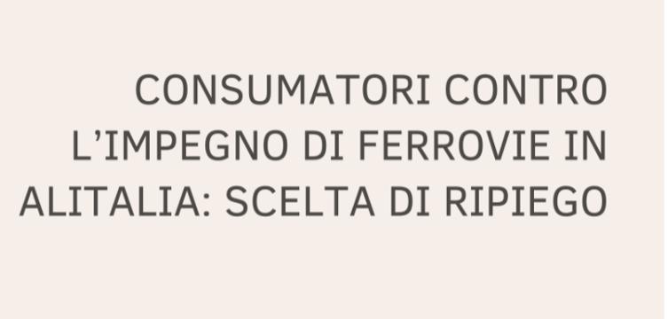 Konsumer Alitalia Ferrovie