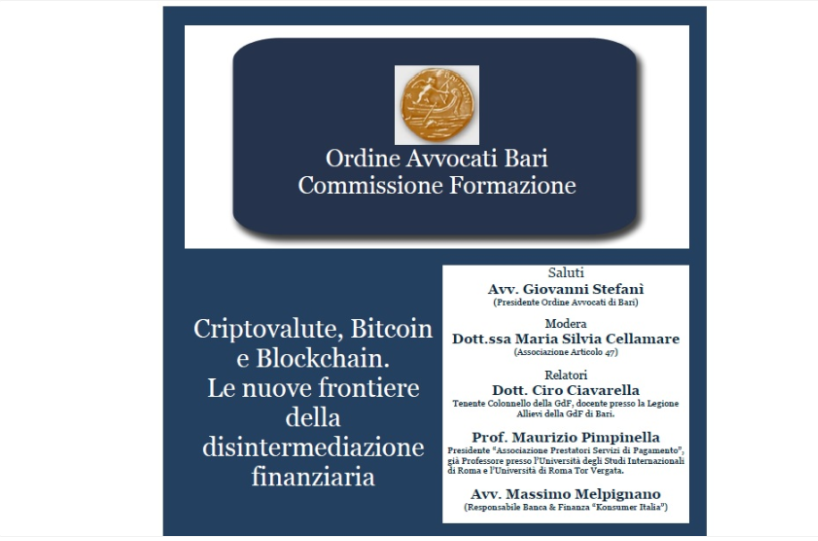 criptovalute bitcoin finanza konsumer informazione