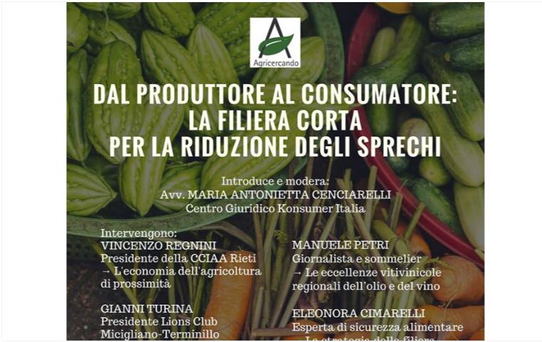 filiera corta konsumer dal produttore al consumatore riduce gli sprechi