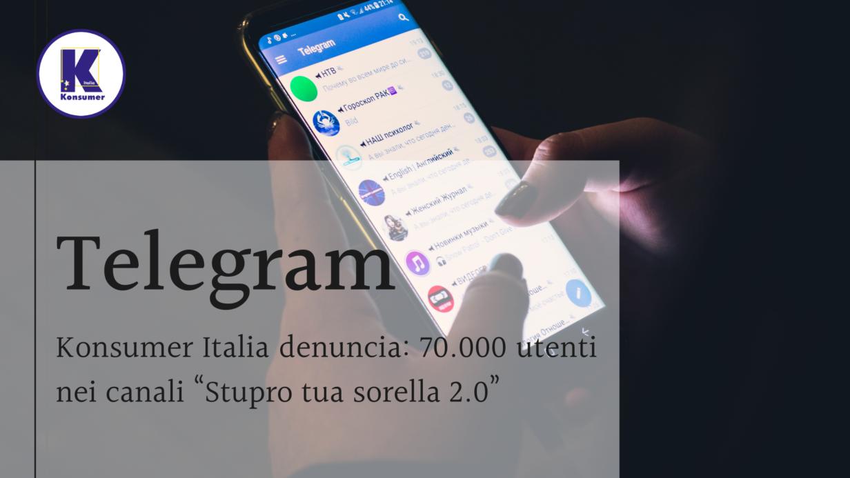 telegram associazione consumatorio konsumer italia, tutela dei bambini online,